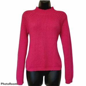 Vero Moda Chunky Loose Knit Hot Pink Sweater